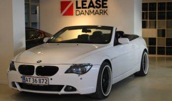 BMW 630i Cabriolet. full